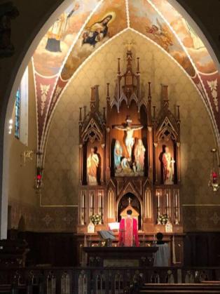 Scott & Elizabeth - our beautiful Church, Queen of All Saints in Fennimore, Wisconsin