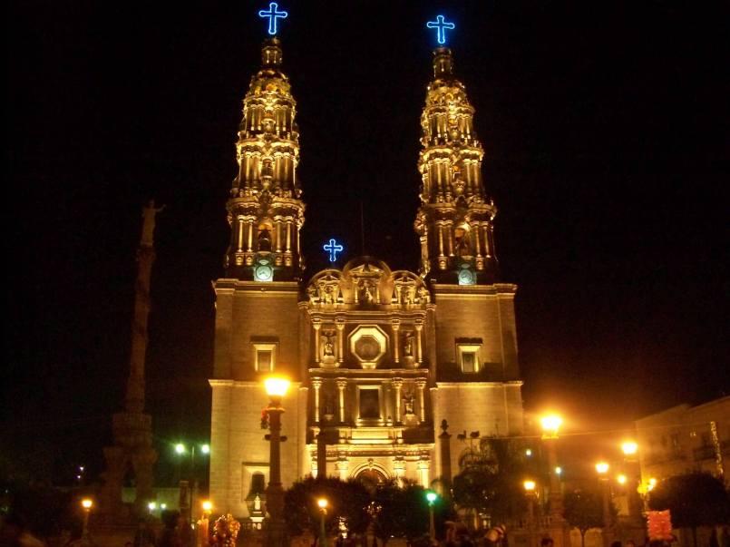 Basilica at night.