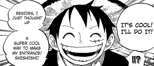 LUFFY accept dangerous job because he got super cool idea