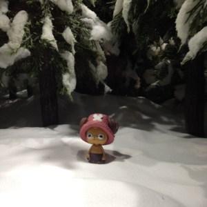 【画像レポート】プライズ ワンピース Cry heart~冬島に降る桜~ ジオラマ 雪山|ジャンフェス2014 #jumpfesta