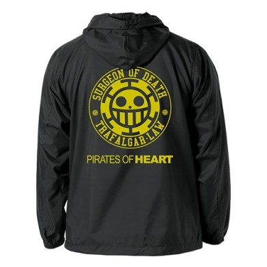 One Piece Heart Pirates Hooded Windbreaker 01