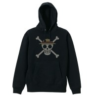 One Piece Straw Hat Pirates Pirate FlagParka BLACK