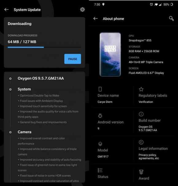 Update to the latest version to fix the nightscape quality on OnePlus camera app