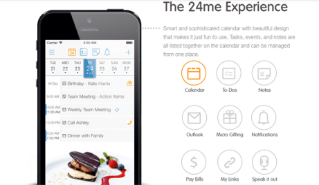24me - Productivity app, time-management