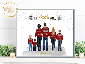 Cheap, Budget Friendly Holiday Gifts 2020 - Personalized Family Gift Picture, Christmas Gift For Mom