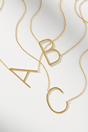 Holiday Christmas Gifts 2020 - Monogram Necklace - Goft for mom, sister, friend