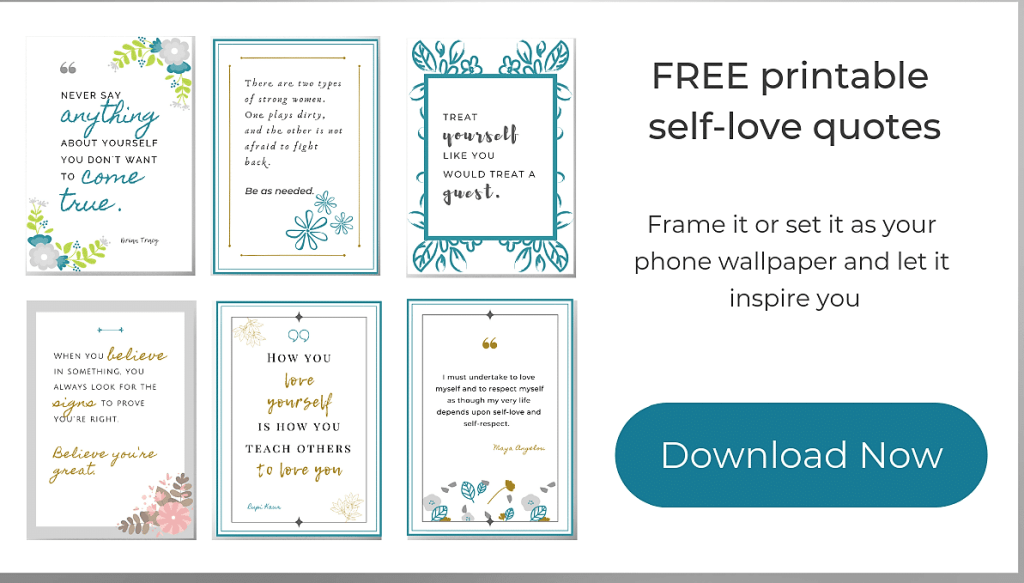 Free printable self-love quotes - End negative self-talk