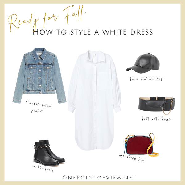 How to style a white dress - Fall outfit Idea (1)
