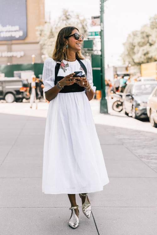 Ready for Fall-Stylish Ways to Accessorize Your White Dress - Splas Out in Killer Shoes