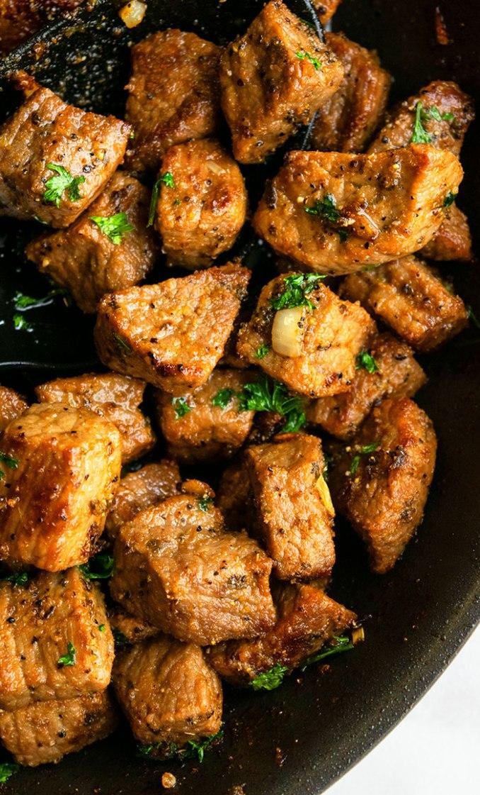 Garlic Butter Steak Bites (One Pot) | One Pot Recipes