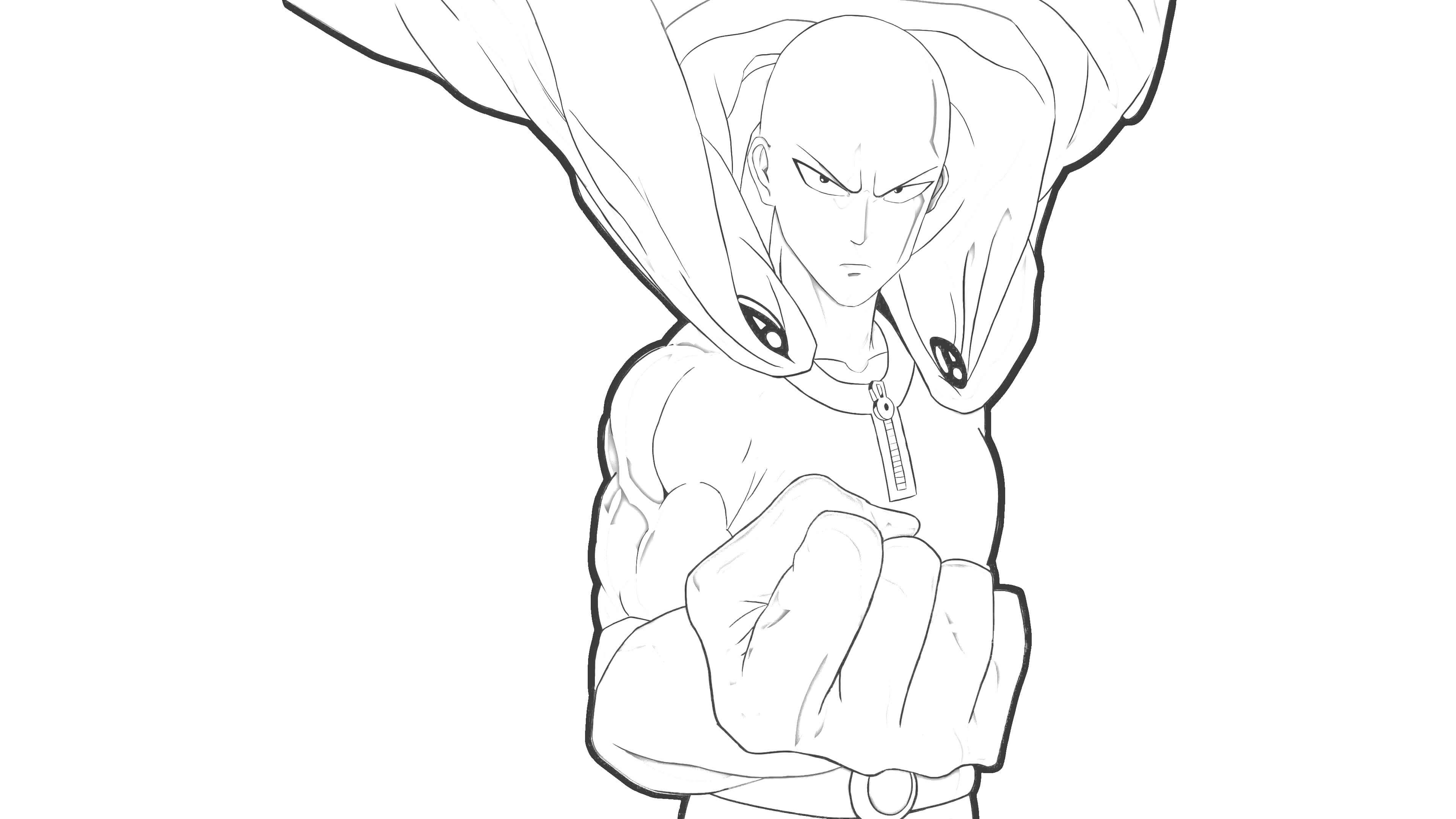 one punch man saitama mostrando punho - One punch man Saitama mostrando punho