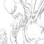 Saitama com raiva para colorir - Desenhos para colorir e imprimir do One Punch Man