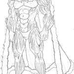 Rei do mar para colorir opm - Desenhos para colorir e imprimir do One Punch Man