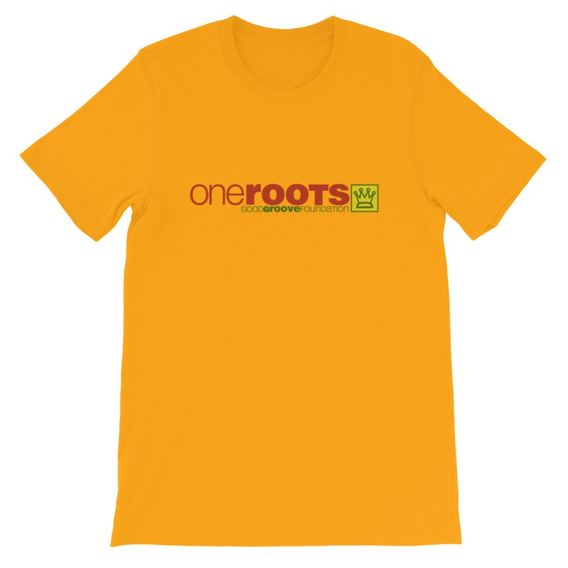 oneROOTS™ - Good Groove Foundation Logo - T-Shirt - Gold