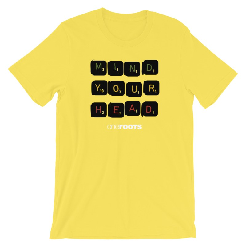 oneROOTS™ - Mind Your Head - T-Shirt - Yellow