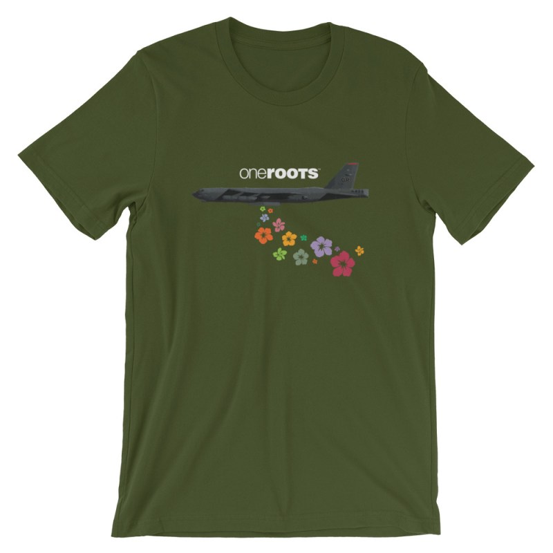 oneROOTS™ - Flower Bomber - T-Shirt - Olive