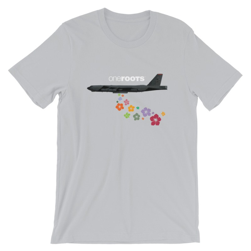 oneROOTS™ - Flower Bomber - T-Shirt - Silver