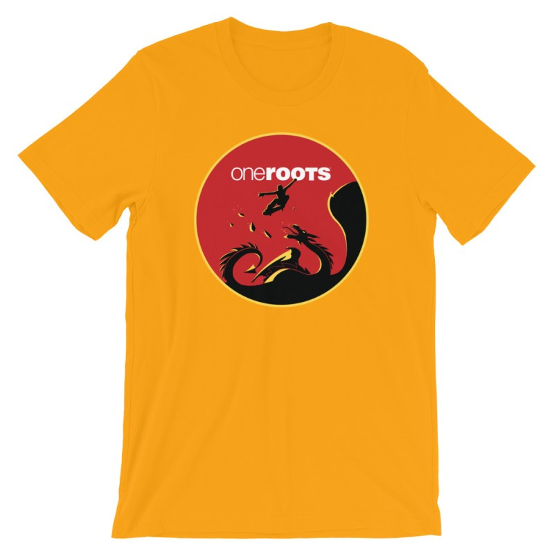 oneROOTS™ - Dragon Rider - T-Shirt - Gold