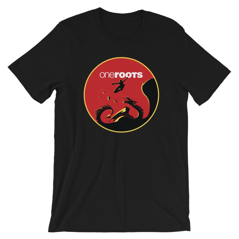oneROOTS™ - Dragon Rider - T-Shirt - Black