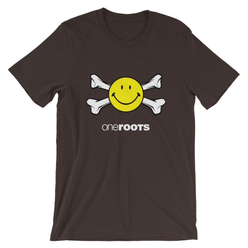 oneROOTS™ - Smile & Bones - T-Shirt - Brown