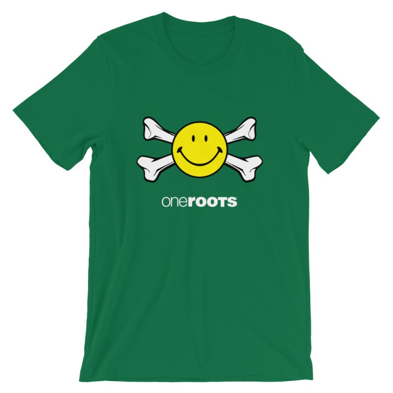 oneROOTS™ - Smile & Bones - T-Shirt - Kelly