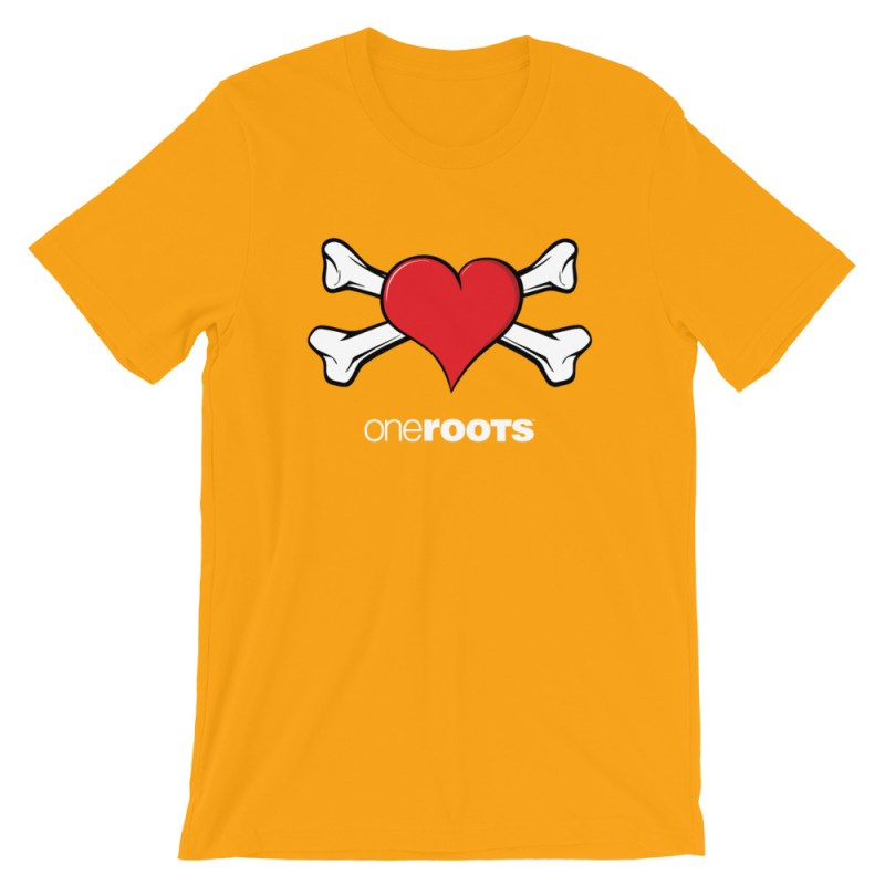 oneROOTS™ - Heart & Bones - T-Shirt - Gold