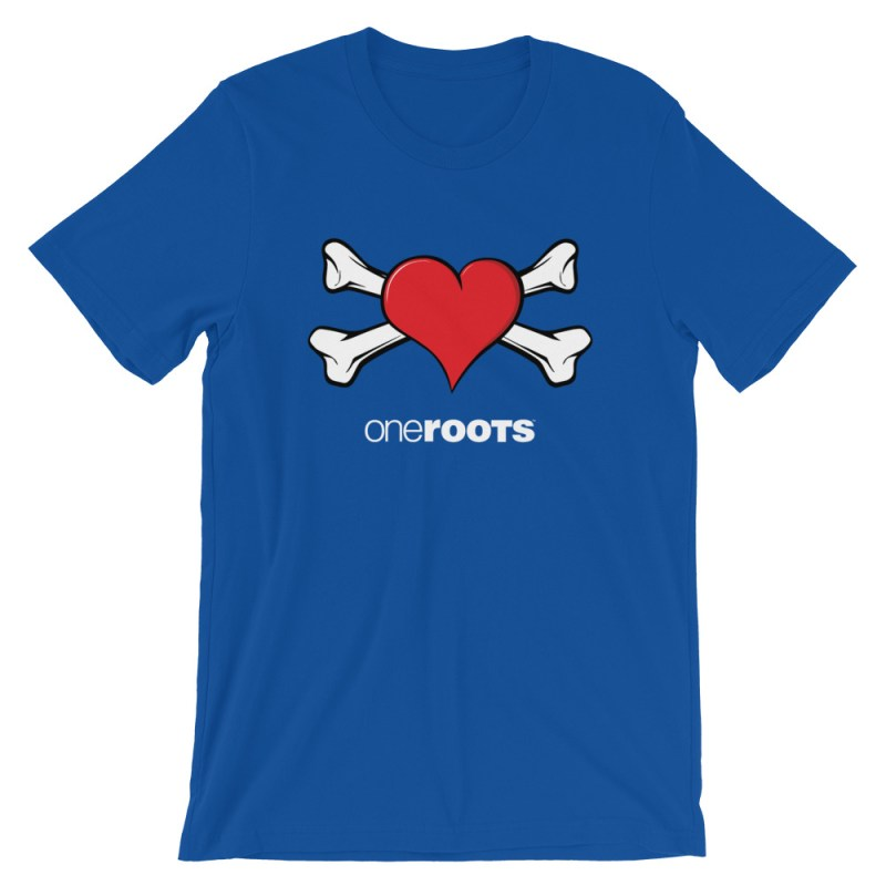 oneROOTS™ - Heart & Bones - T-Shirt - True Royal