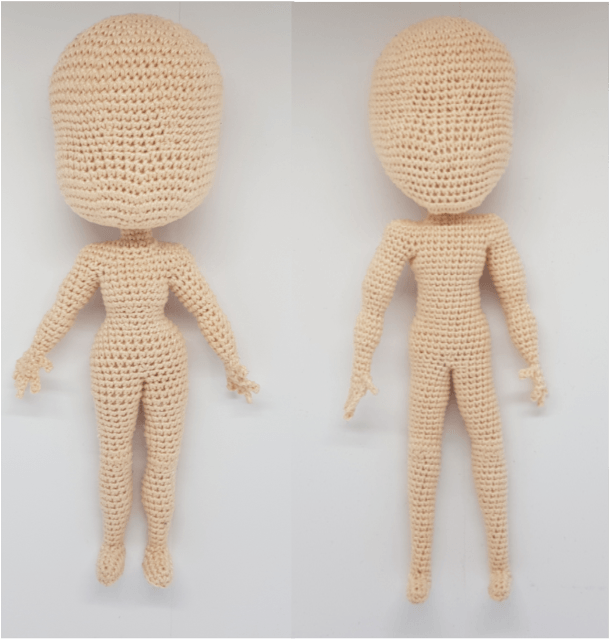 9 Slender Doll Base Amigurumi Crochet Pattern for | Etsy | 640x609