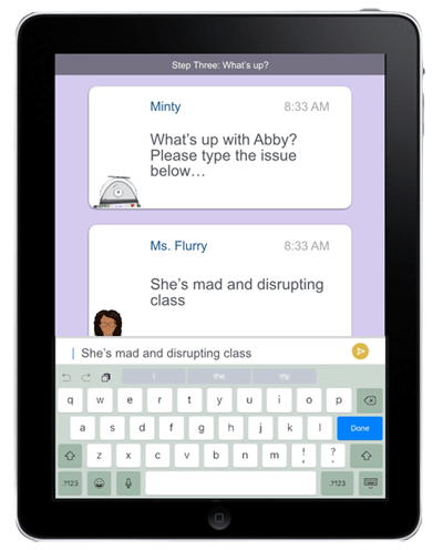 Minty Chat Screen on iPad