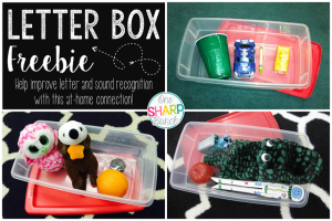Letter Box FREEBIE {An Alphabet Activity}