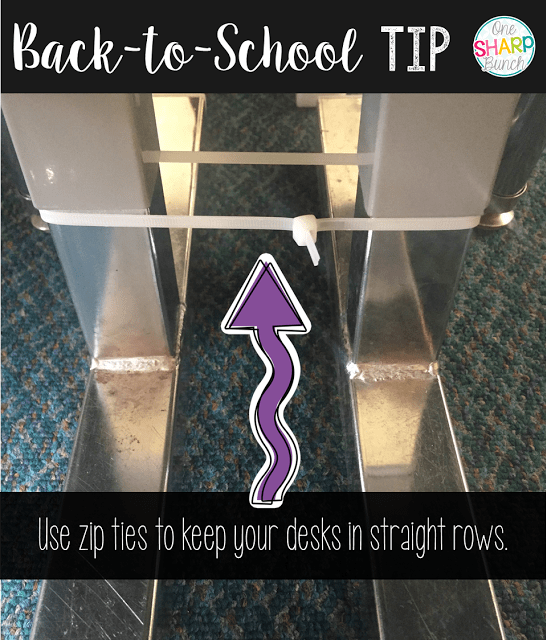 Great back to school tips and classroom hacks! You won't want to miss these tips for classroom organization or the back to school FREEBIE!