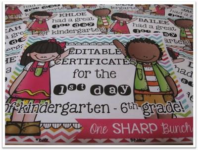 https://www.teacherspayteachers.com/Product/First-Day-of-School-Certificates-EDITABLE-1419837