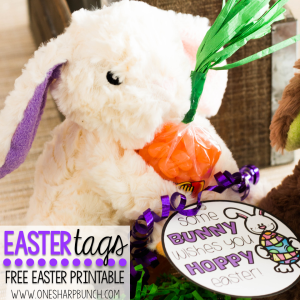 Free Printable Easter Gift Tags – Use these free Easter tags to wish some bunny a hoppy Easter! It'll be the perfect addition to all of your Easter basket ideas!