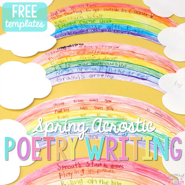 "This ""Spring"" acrostic poem is the perfect way to incorporate poetry activities into your daily lessons this spring! Don't forget to check out the great poetry writing prompt perfect for creating a copycat poem about rain!"