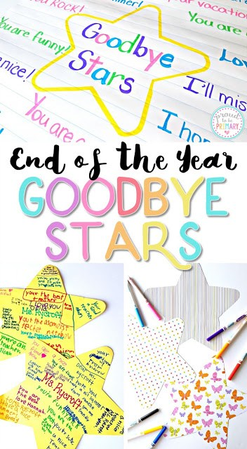 End of the Year Goodbye Stars are a great keepsake that your students! Read the how-to, as well as a step-by-step guide on how to create an end of the year classroom video!