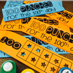 Celebrate the 100th Day of School with these engaging fine motor activities for kids! Our favorites are the 100th Day sticker mat and punch out. You can easily incorporate these 100th Day of School activities on the 100th Day of Kindergarten. These fine motor activities for the 100th Day are low prep and will keep those little fingers busy, as they build fine motor skills! #100thdayideas #100thday #100thdayofschool #100thdayofschoolactivities #100thdayactivities #finemotor #finemotoractivities