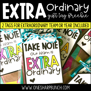 Extraordinary Gift Tag Freebie