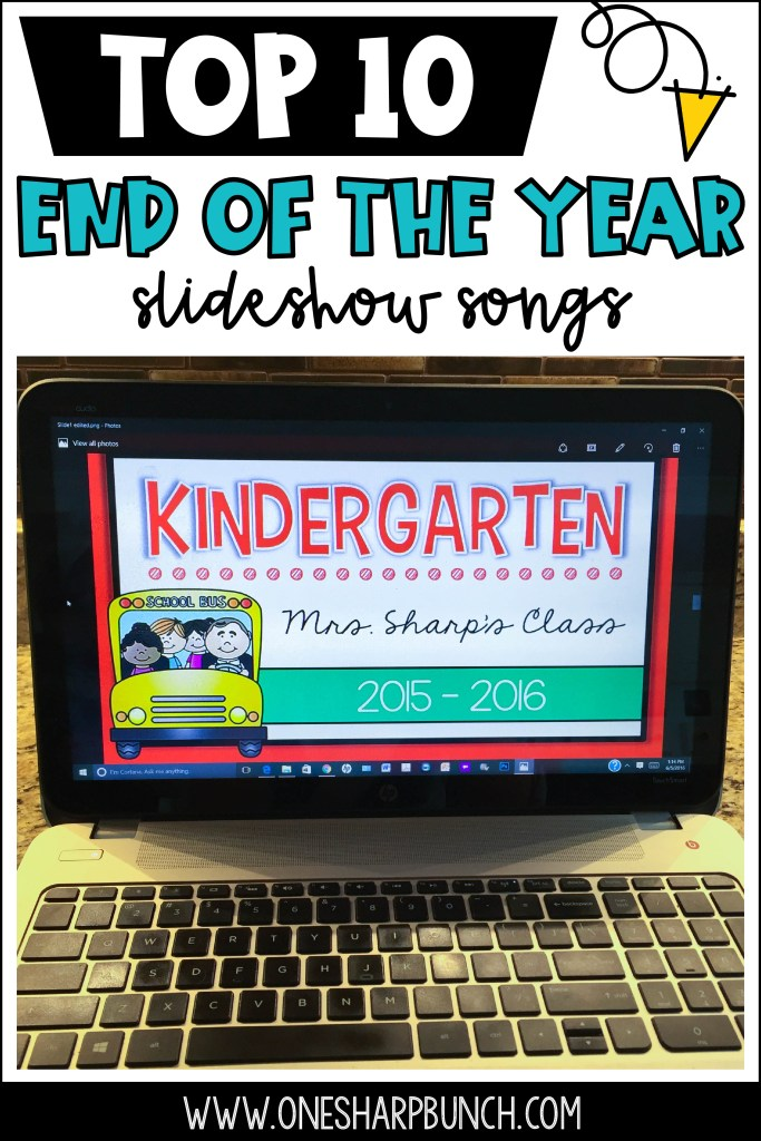 I've narrowed my list down to my Top 10 End of the Year Slideshow Songs, as well as a few close contenders, for a total of 20 end of the year songs that are perfect for your end of the year slideshow and end of the year celebration! Great graduation songs for any grade level!
