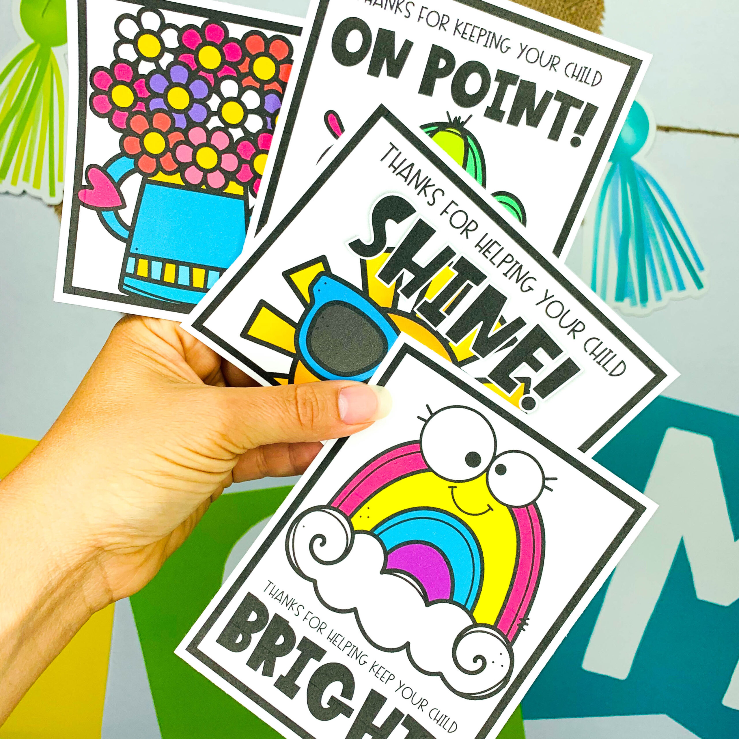 8 free parent thank you cards from teachers as your end
