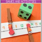 Get those little turkeys up and moving, as you build number sense and develop gross and fine motor skills, with these engaging turkey math activities using a number line! These turkey games are perfect for your preschool, pre-k, kindergarten and 1st grade Thanksgiving party this fall. Instant engagement with these Thanksgiving games! #thanksgiving #turkeygames #turkeymath #thanksgivinggames #fall #fallactivities #turkeyactivities #thanksgivingactivities #thanksgivingparty