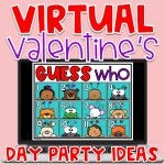 With a mix of remote learning, in-person instruction and hybrid learning, teachers are searching for creative Valentine's Day ideas. Finding virtual Valentine's Day games and virtual Valentine's Day activities that are the perfect balance of educational and fun can be a challenge. Even though our students may be learning from a distance, we can still create a memorable and engaging virtual Valentine's Day party! #kindergarten #preschool #firstgrade #valentinesday #valentineideas #valentineparty