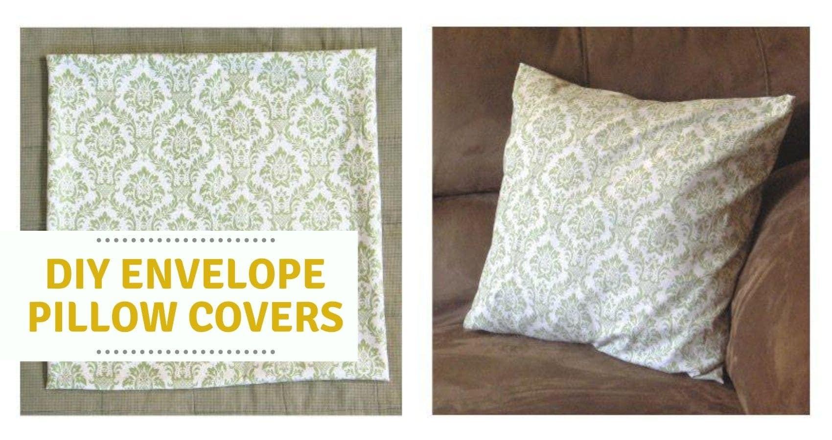 17x17 envelope pillow cover tutorial