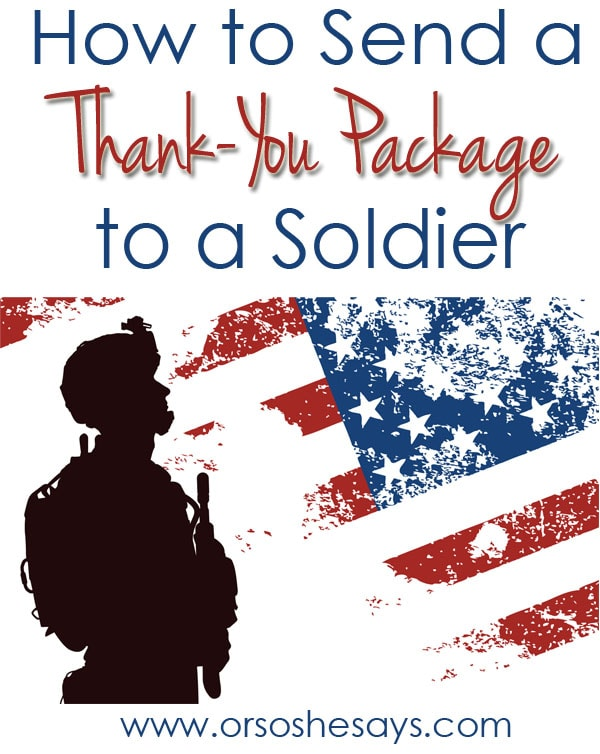 how to send a thank you package to a soldier