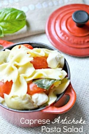 Caprese Artichoke Pasta Salad 1