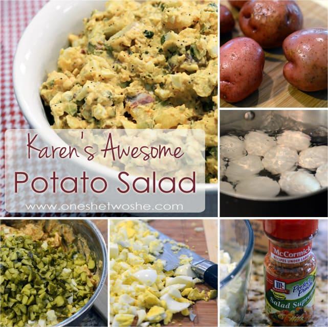 Potato Salad Collage