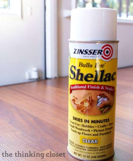Spray Shellac.