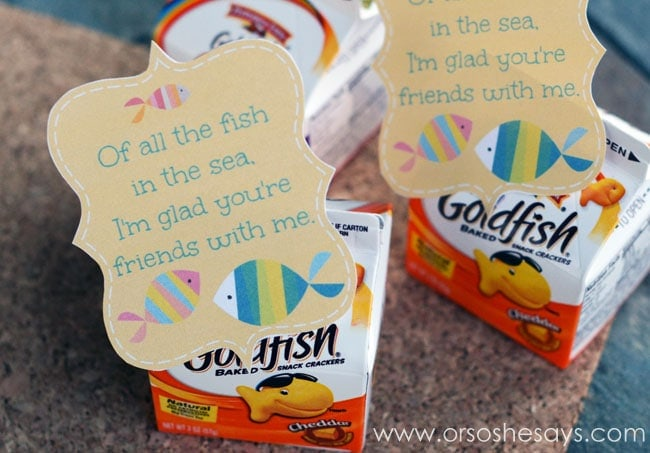 Get A Free Fish Valentine Printable Today, And Use It For All The Goldfish  And