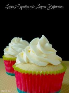 Lemon cupcakes via Blahnik Baker