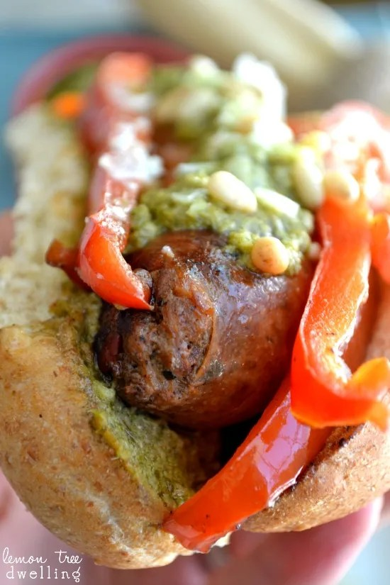 Grilled Italian Sausage Sandwiches - a delicious idea for summer cookouts!