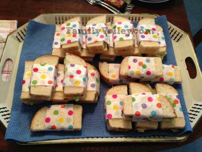 FamilyVolley.com-Polka Dot Cake Sandwiches